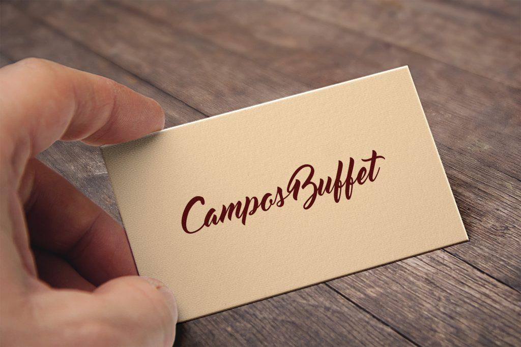 Cartão de visita do Campos Buffet