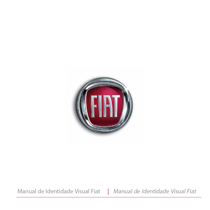 Manual de identidade visual - Capa do manual da Fiat